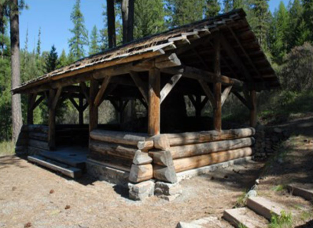 Kitchen structure at Swan Lake