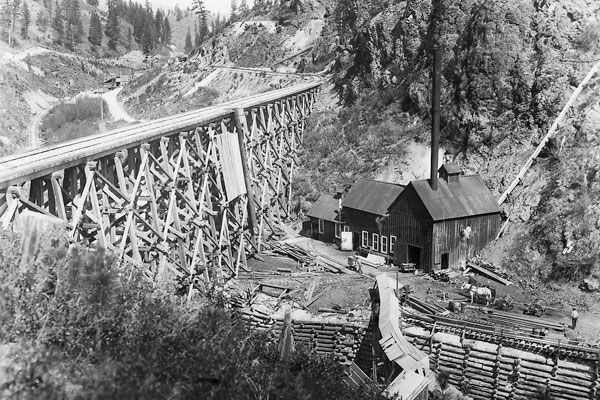 Quilp Mine and Trestle over the Gulch